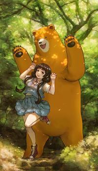 Аватар вконтакте Мачи Амаядори / Machi Amayadori и Нацу Кумай / Natsu Kumai из аниме Жрица и медведь / Kuma Miko, автор Kuon