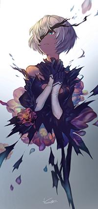 Аватар вконтакте YoRHa №2 тип B из игры NieR: Automata, автор Karinto Yamada