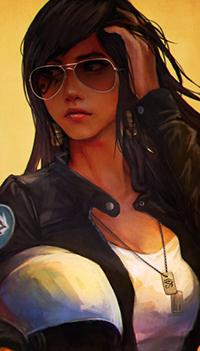 Аватар вконтакте Фарра / Pharah из игры Overwatch, автор Monori Rogue