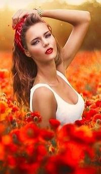 Аватар вконтакте Девушка в маковом поле, by Victoria Andrea