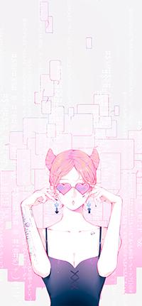 Аватар вконтакте Гламурная девушка в розовых очках, автор Moss