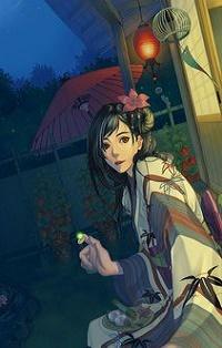 Аватар вконтакте Девушка в кимоно со светлячком на пальце, by Shuka