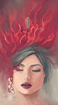 Аватар вконтакте Брюнетка с закрытыми глазами, автор Natalia Grek