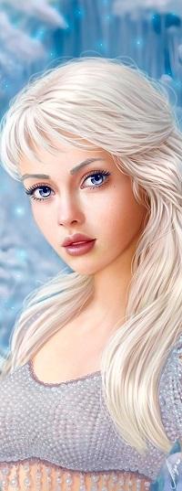 Аватар вконтакте Девушка с длинными белыми волосами