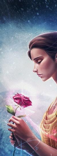 Аватар вконтакте Красавица с розой в руке, by Axsens