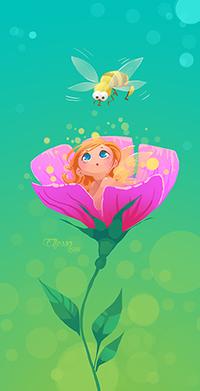 Аватар вконтакте Маленькая девочка в цветке, автор Julia Buravlyova