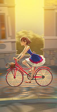 Аватар вконтакте Девушка на велосипеде, автор Julia Buravlyova