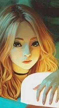 Аватар вконтакте Девочка со светящейся лампой
