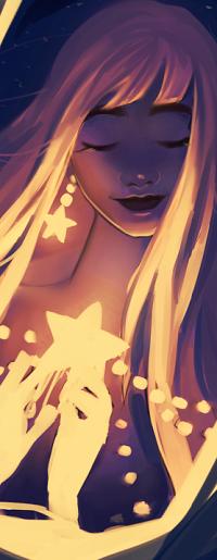 Аватар вконтакте Девушка со звездой в руке