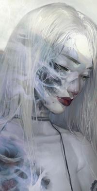 99px.ru аватар Грустная девушка с длинными волосами, by Dark134