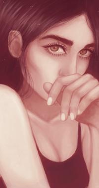 Аватар вконтакте Девушка с рукой у лица, by noonatuzka