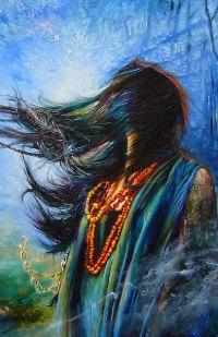 Аватар вконтакте Рисунок индейца с бусами, художник-иллюстратор Владимир Куклинский
