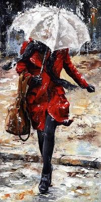 Аватар вконтакте Картина девушки под зонтиком, by Emerico Toth