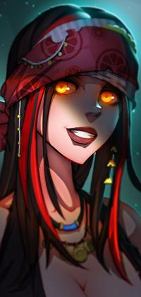 Аватар вконтакте Темноволосая девушка с янтарными глазами, by dinmoney