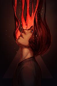 Аватар вконтакте Парень со светящимися волосами, by mcptato