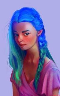 99px.ru аватар Девушка с ярко-голубыми волосами, by MaromiSagi