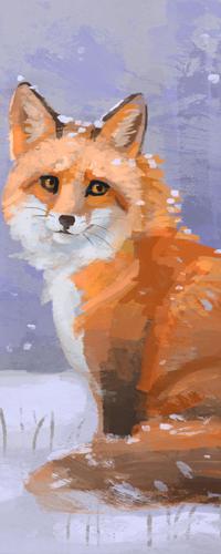 99px.ru аватар Рыжая лисичка на снегу, by Meorow