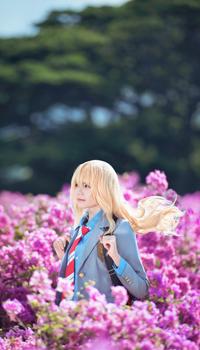 Аватар вконтакте Косплей Мiyazono Кaori / Миязоно Каори из аниме Shigatsu wa Kimi no Uso / Твоя апрельская ложь