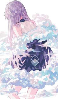 99px.ru аватар Девушка окутанная облаками