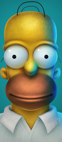 Аватар вконтакте Гомер Симпсон / Homer Simpson из мультсериала Симпсоны / The Simpsons, by simoneferriero