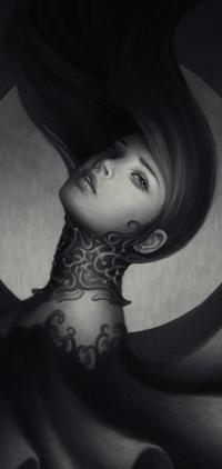 Аватар вконтакте Портрет девушки на фоне круга, by Zolaida