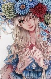 Аватар вконтакте Девушка с цветами