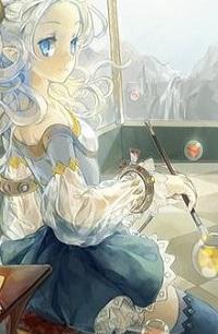 Аватар вконтакте Девочка с кисточкой сидит за столом