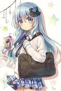 Аватар вконтакте Девочка с сумкой на плече и бантиком на волосах