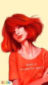 Аватар вконтакте Девушка с яркими волосами (what a wonderful world / как прекрасен этот мир), by MaromiSagi