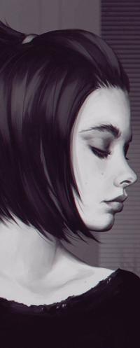 Аватар вконтакте Портрет девушки в профиль, by akramness