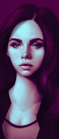 Аватар вконтакте Девушка на сиреневом фоне, by akramness