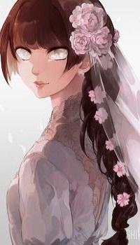 Аватар вконтакте Невеста с украшенными цветами волосами, by shihoran
