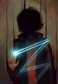 Аватар вконтакте Человек в тени, рисующий пальцами в воздухе зигзаг