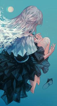 Аватар вконтакте Девушка под водой, автор Kane
