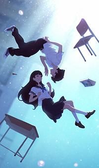 Аватар вконтакте Девушка и парень парят в небе, автор Илья Кувшинов
