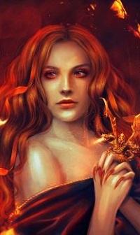 Аватар вконтакте На руке у девушки сидит дракончик, by PerlaMarina