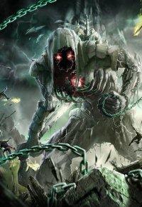 Аватар вконтакте Магически созданное чудовище из камня с цепями, воплощающее смерть, by ptitvinc