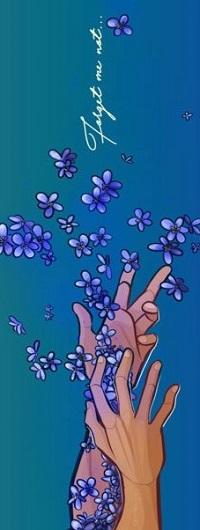 Аватар вконтакте С рук парня слетают цветы, (Forget Me Not / не забывай меня), by Dottea