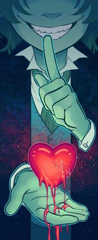 Аватар вконтакте Улыбающийся парень с сердцем, by MidoriLied