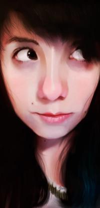 Аватар вконтакте Портрет темноволосой девушки, by eL-HiNO