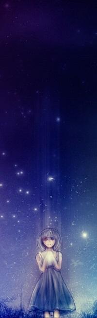 Аватар вконтакте Девушка стоит под звездным небом