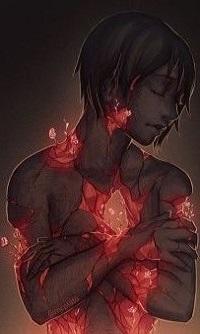 Аватар вконтакте Парень с ранами на теле, из которых появляются цветы, by mcptato