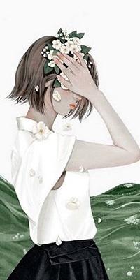 Аватар вконтакте Девушка держит руку у головы с цветами