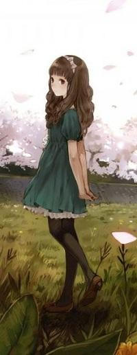 Аватар вконтакте Девушка стоит на поляне