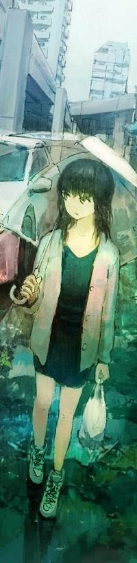 Аватар вконтакте Девушка с зонтом идет по городу