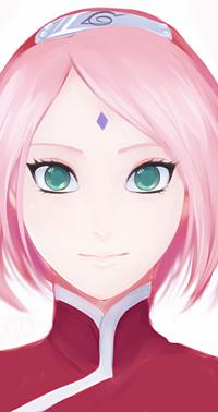 Аватар вконтакте Сакура Харуно / Sakura Haruno из аниме Наруто / Naruto, by nattouh