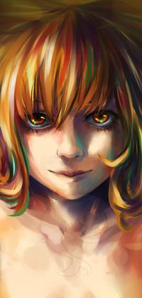 Аватар вконтакте Светловолосая девушка с янтарными глазами, by Yuushin7