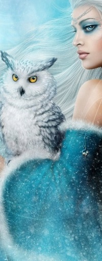 Аватар вконтакте Девушка с белой совой