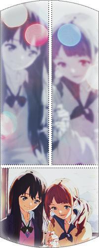 Аватар вконтакте Две девушки сидят и смотрят в телефон, улыбаясь