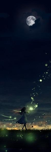 Аватар вконтакте Девушка со свечением над руками, by Yy - ysk ygc